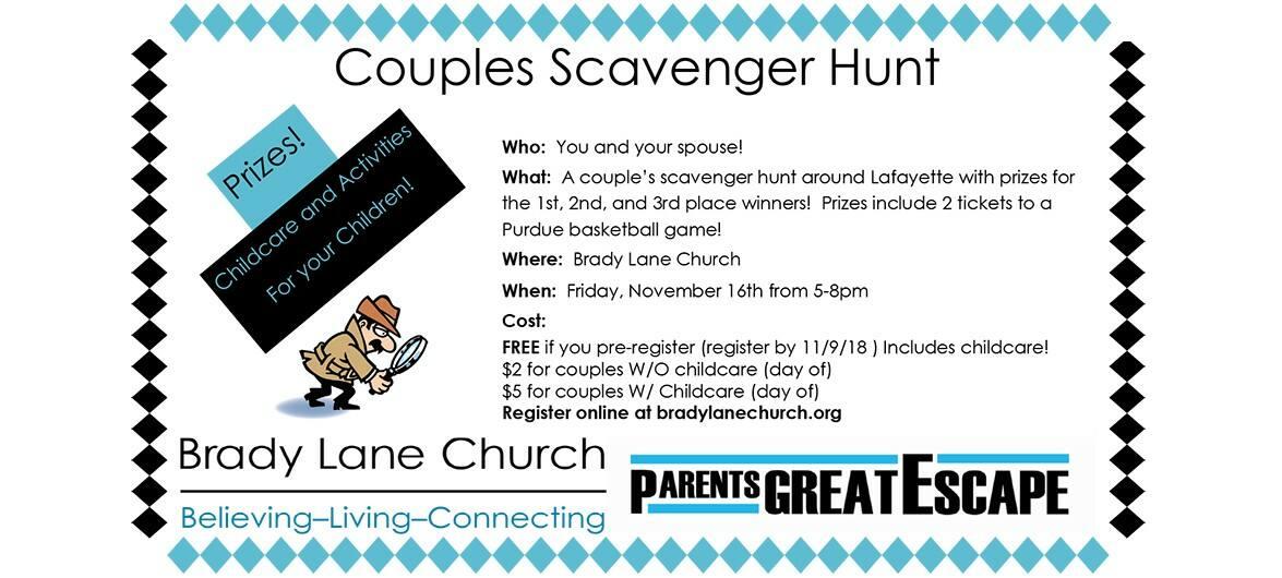 Couples Scavenger Hunt